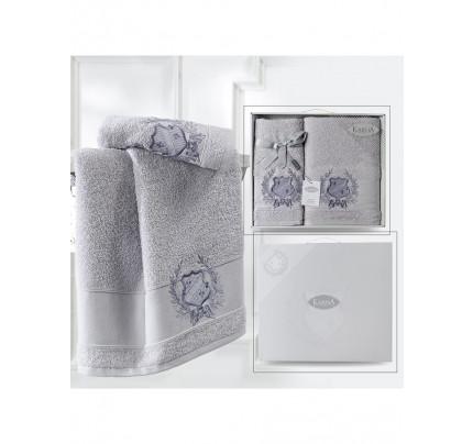 Набор полотенец Karna Davis (кремовый, 2 предмета)