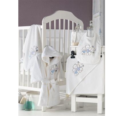 Банный набор Karna Baby Club на 1-3 года (5 предметов, кремовый)