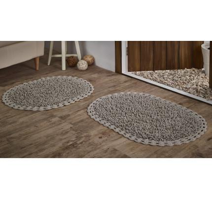 Набор ковриков для ног Modalin Dual (капучино) 45x60+50x80