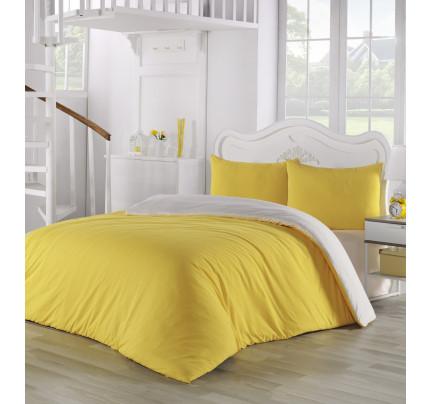 Постельное белье Karna Sofa (желтый-кремовый)