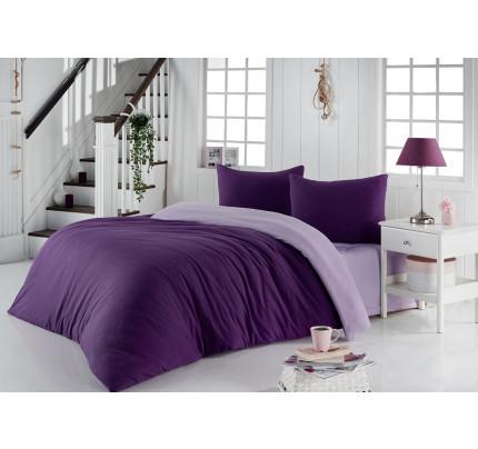 Постельное белье Karna Sofa (фиолетовый-светло-лавандовый)