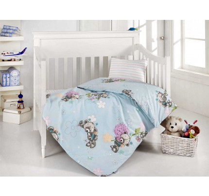 Детское белье в кроватку Altinbasak Yumak (голубое)