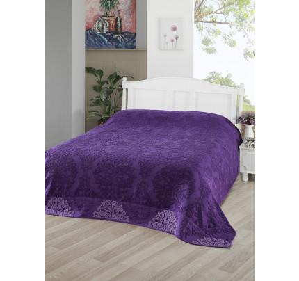 Махровая простынь Karna Ottoman (фиолетовая)