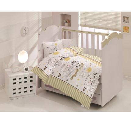 Детское белье в кроватку Altinbasak Teddy (коричневое)