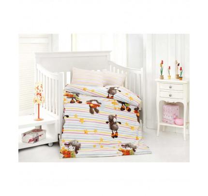 Детское белье в кроватку Altinbasak Kuzucuk (оранжевое)