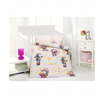 Детское белье в кроватку Altinbasak Kuzucuk (розовое)