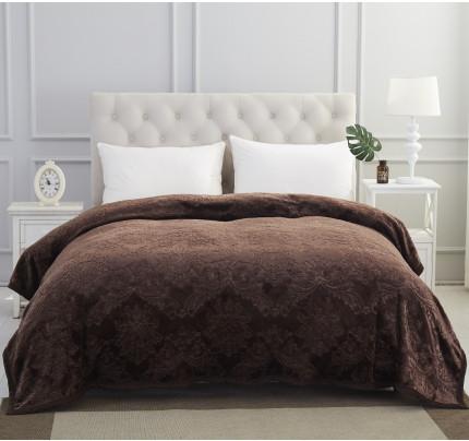 Плед вельсофт Karna Darvin (темно-коричневый) 220x240
