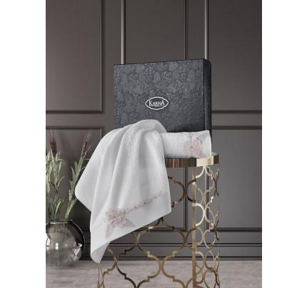 Набор полотенец Karna Siena (кремовый, 2 предмета)