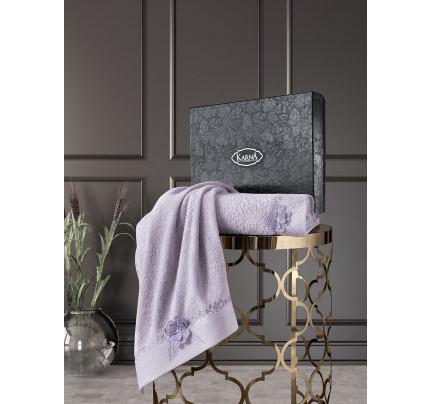 Набор полотенец Karna Siena (светло-лавандовый, 2 предмета)