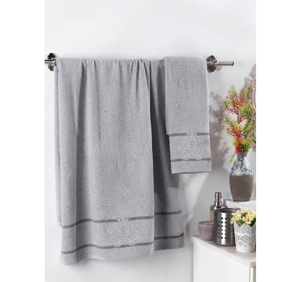 Набор полотенец Karna Davin (серый, 2 предмета)