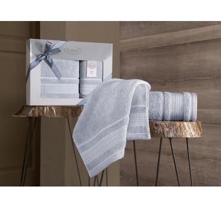 Набор полотенец Karna Ladin (серый, 2 предмета)