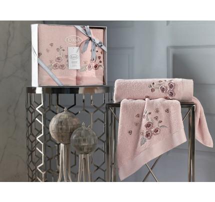 Набор полотенец Karna Malinda (абрикосовый, 2 предмета)