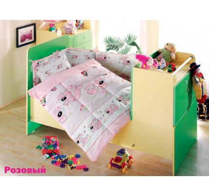 Детское белье в кроватку Altinbasak Sevimli Собачки (розовое)