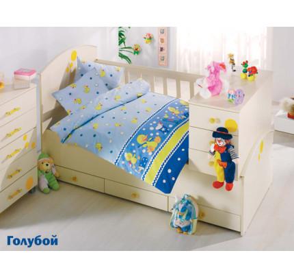 Детское белье в кроватку Altinbasak Vakvak Утенок (голубое)