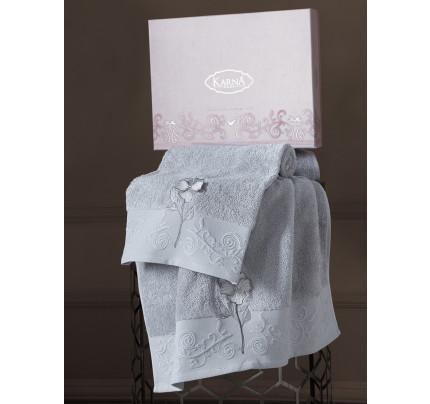 Набор полотенец Karna Lilyan (серый, 2 предмета)