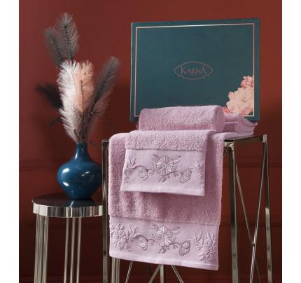 Набор полотенец Karna Mira (грязно-розовый, 2 предмета)