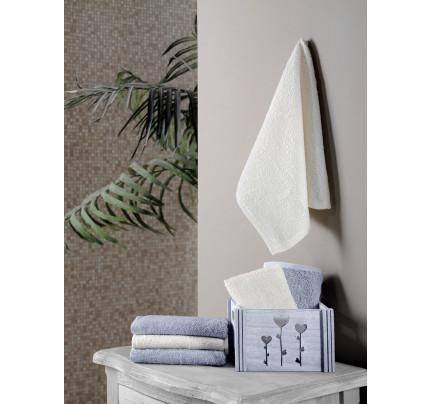 Набор салфеток Karna Flori светло-серый (30x30, 6 предметов)