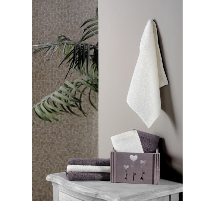 Набор салфеток Karna Flori коричневый (30x30, 6 предметов)