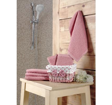 Набор салфеток Karna Pruva грязно-розовый (30x30, 6 предметов)
