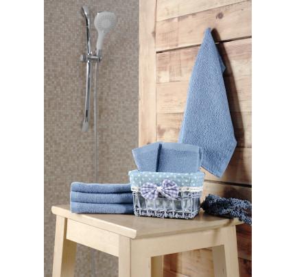 Набор салфеток Karna Pruva голубой (30x30, 6 предметов)