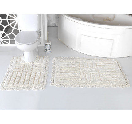 Набор ковриков для ног Modalin Ancor (кремовый) 50x70+60x100