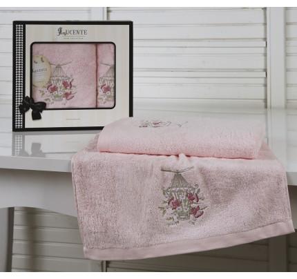 Набор полотенец Lucente Gabbia (розовый, 2 предмета)