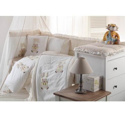 Детское белье в кроватку + вафельное покрывало Gelin Sallanan BEBE (бежевый)