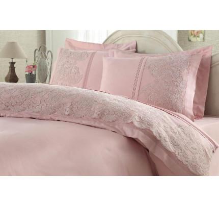 Свадебное постельное белье Elmas (розовое) евро