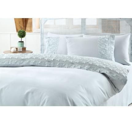 Свадебное постельное белье Esma (бирюзовое) евро