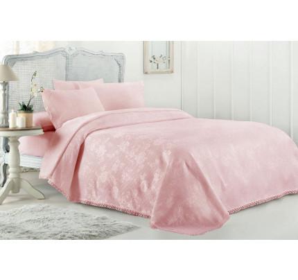 Набор с покрывалом Gelin Home March (розовый) евро