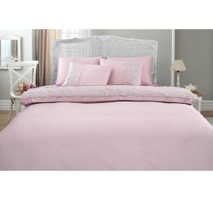 Свадебное постельное белье Gelin Home Narin (лиловое) евро