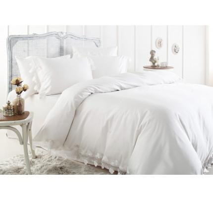 Свадебное постельное белье Gelin Home Toscana (белое) евро