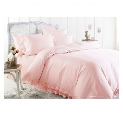 Свадебное постельное белье Gelin Home Toscana (розовое) евро