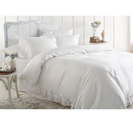 Свадебное постельное белье Gelin Home Venedik (белый) евро