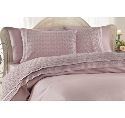 Свадебное постельное белье Gelin Home Asmin (лиловое) евро