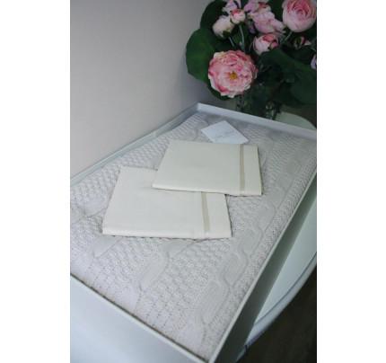 Свадебный набор Gelin Home Dilara с пледом (кремовый) евро
