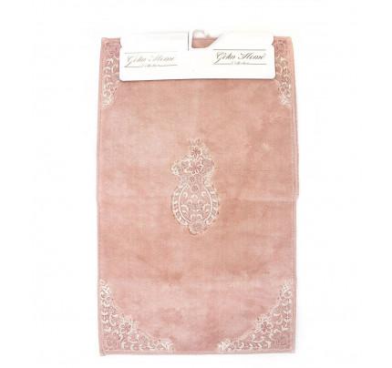 Набор ковриков Gelin Home Hanedan (2 предмета) грязно-розовый