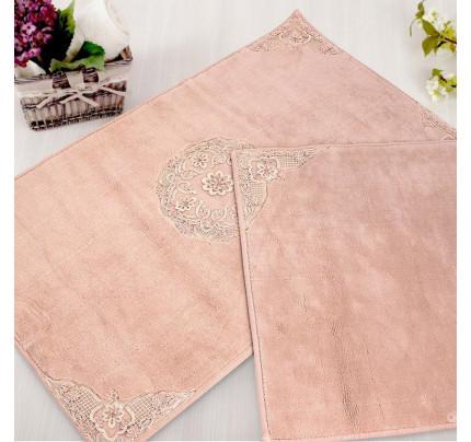 Набор ковриков Gelin Home Ottoman (2 предмета) грязно-розовый