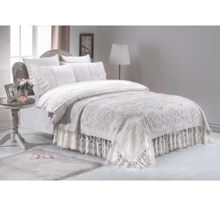 Набор постельного белья с покрывалом Gelin Home Sena (белый) евро