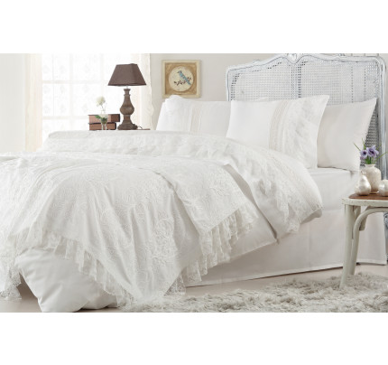 Набор постельного белья с покрывалом Gelin Home Funda (белый) евро