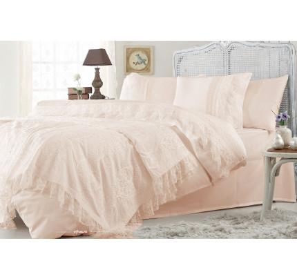 Набор постельного белья с покрывалом Gelin Home Funda (персиковый) евро