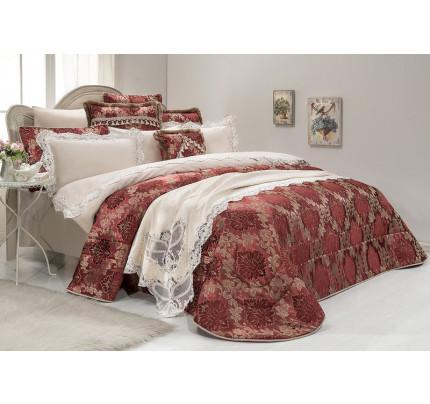 Набор постельного белья с покрывалом Gelin Home Sadabad (бежевый) евро