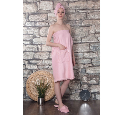 Набор для сауны женский Karna Gisell (грязно-розовый) размер S-L