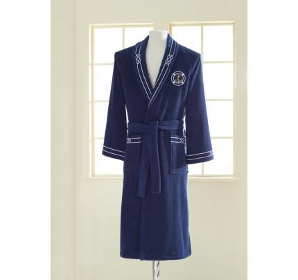 Подарочный набор Soft Cotton Marine синий (халат + полотенца)