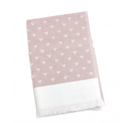 Полотенце Tivolyo Home Hearts (розовый)
