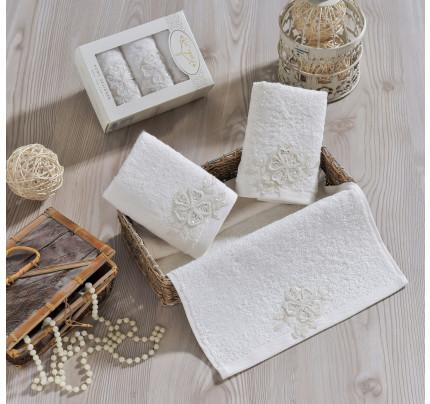 Набор салфеток Irya Lovely (молочный) 30x50 (3 шт.)