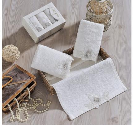 Набор салфеток Irya Pearly (молочный) 30x50 (3 шт.)