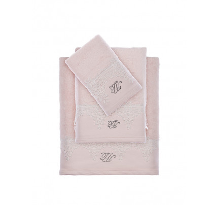 Набор полотенец Tivolyo Juliet (розовый) 3 предмета + ароматизатор