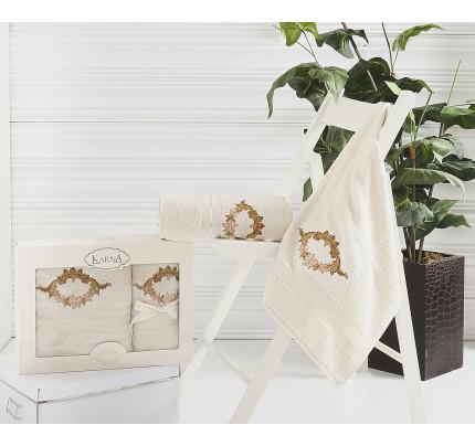 Набор полотенец Karna Karen (бежевый, 2 предмета)