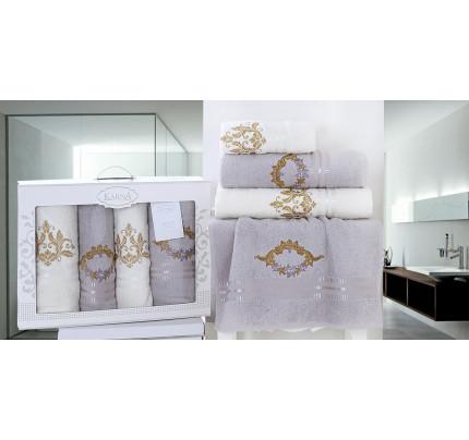Набор полотенец Karna Karen (серый, 4 предмета)